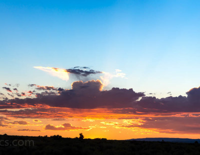 Taos Sunset Panorama #1